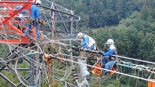 送電線工事